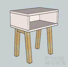 Free Small Wooden Table Plans by Free Nightstand Plans For Your Bedroom
