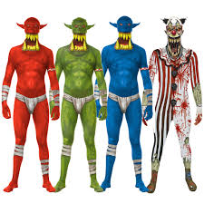 morphsuits halloween city morphsuit jaw dropper orc or clown fancy dress costume sizes m