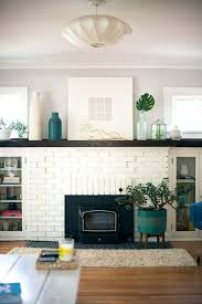 painted brick fireplace ideas design distressed home office small