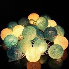 2016 best price 20 fabric cotton balls string led lights