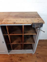 vintage pine pigeon holes work bench kitchen island shop counter