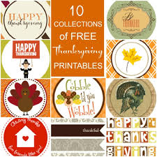 10 collections of free thanksgiving printables for your