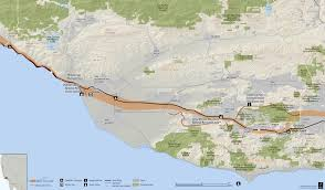 Amtrak National Map by Anza Trail Guide Ventura