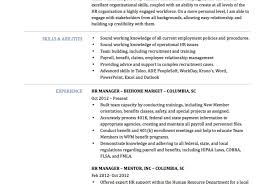payroll manager resume resource manager resume sle human resources manager resume