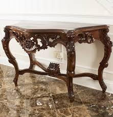 Mahogany Console Table Rococo Carved Mahogany Console Table Ebth