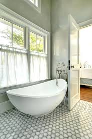 Cafe Curtains For Bathroom Egg Shaped Tubamazing Bathroom Features Walls Clad In Gray Marble
