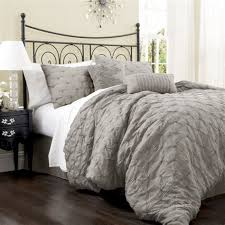Ruffle Bed Set Gray Ruffle Bedding Sets How To Design Gray Bedding Set