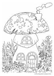 toadstool house colouring picture the storyteller u0027s abode