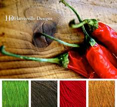 chili peppers color palette using harrisville designs yarn