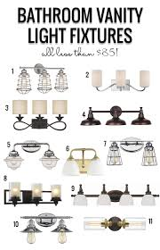 remodelaholic bathroom vanity light fixtures under 85