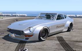 wangan midnight fairlady z 1969 pandem nissan s30 add on rhd 4k template gta5 mods com