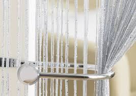 glam grey string curtain from net curtains direct