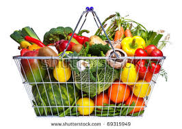 fruit and vegetable basket stock images royalty free images