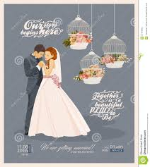 wedding card to groom from wedding vintage invitation card template vector with and