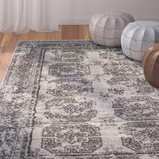 bungalow rose grey u0026 silver rugs you u0027ll love wayfair ca