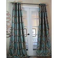 Brown Turquoise Curtains Turquoise Curtain Panels Devotion Curtain Panel Add Lining