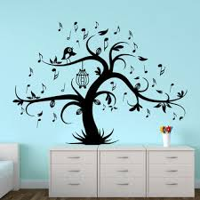 Music Note Wall Decor Wall Decal Tree Silhouette With Birdcage From Decalsfromdavid On