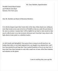 teacher resignation letter pre teacher resignation letter