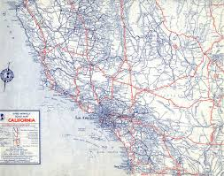 Los Angeles Street Map by The Lost U S Highways Of Southern California History Kcet