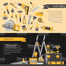 home repair banner construction tools hand tools for home