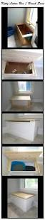 kitty litter box bench seat great way to hide those ugly kitty