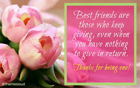 thank you friend for being the one free friends ecards 123
