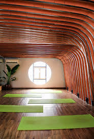 Studio Interior by 69 A Studio Clads Yoga Studio Interior In Vietnam With Yin Yang Tiles