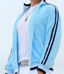 light blue jacket mens miami style blue track jacket men s fashion for less