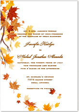 autumn wedding invitations wedding invitations autumn inspirational fall wedding invitation