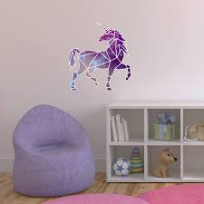 wall decor home decor home living geometric unicorn printed wall decal unicorn wall decal unicorn nursery theme unicorn