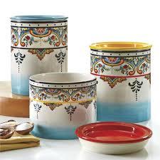 euro ceramica zanzibar 3 piece kitchen canister set u0026 reviews