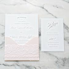Invitation Card With Rsvp Simple And Elegant Panel Pocket Invitation Card U0026 Rsvp The Blush