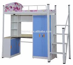 lit superposé avec bureau collège dortoir mobilier commercial multifonction lit superposé