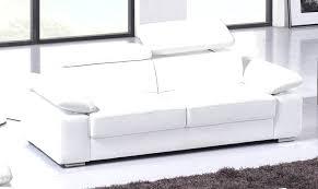 canape cuir blanc convertible cuir blanc convertible 4 avec maison du monde 2 et 3 places pas