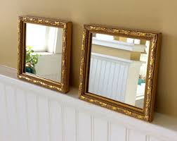 vintage home interior pictures gold mirror etsy