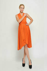 26 burnt orange butterfly convertible dress bridesmaid dress by 7