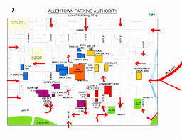 allentown arena parking where to park when visiting the ppl center parking routes in red modification c kram209