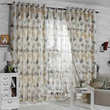 elegant print pattern living room curtain