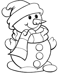 christmas color snowman snowman wearing hat christmas
