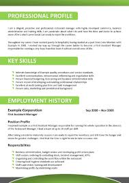 Job Resume Skills by Resume Example For Hospitality Templates