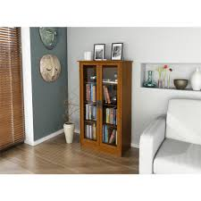 Ameriwood Bedroom Furniture by Ameriwood Altra Cherry Glass Door Bookcase 34825 The Home Depot