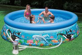 intex inflatable swimming pool at rs 3499 piece s hawa wala
