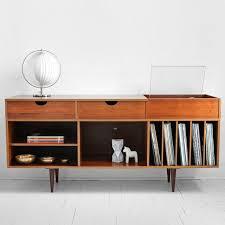 West Elm 2x2 Console Desk Vintage Teak Record Cabinet Personal Space Pinterest Record