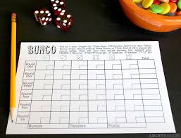 this free bunco score sheet makes room to tally and keep track of