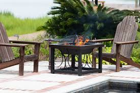 Patio Dining Set With Fire Pit - best fire pit table teak patio furniture world