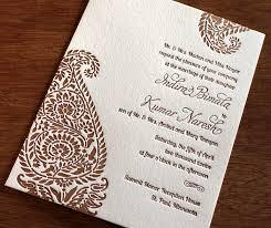 mehndi invitation cards indian paisley letterpress wedding card indira ajalon printing