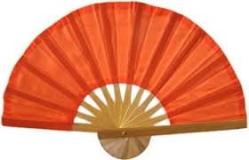 asian fan asian fans orange bamboo fan
