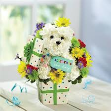 dog flower arrangement burlingtonflowers florist flowershop burlington flowers florist