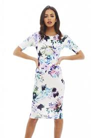mila short sleeve cocktail dress with all over floral print buy