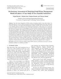 performance assessment of municipal solid waste management model